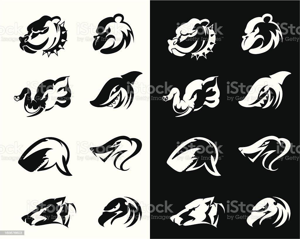 Wild Animals Set royalty-free stock vector art