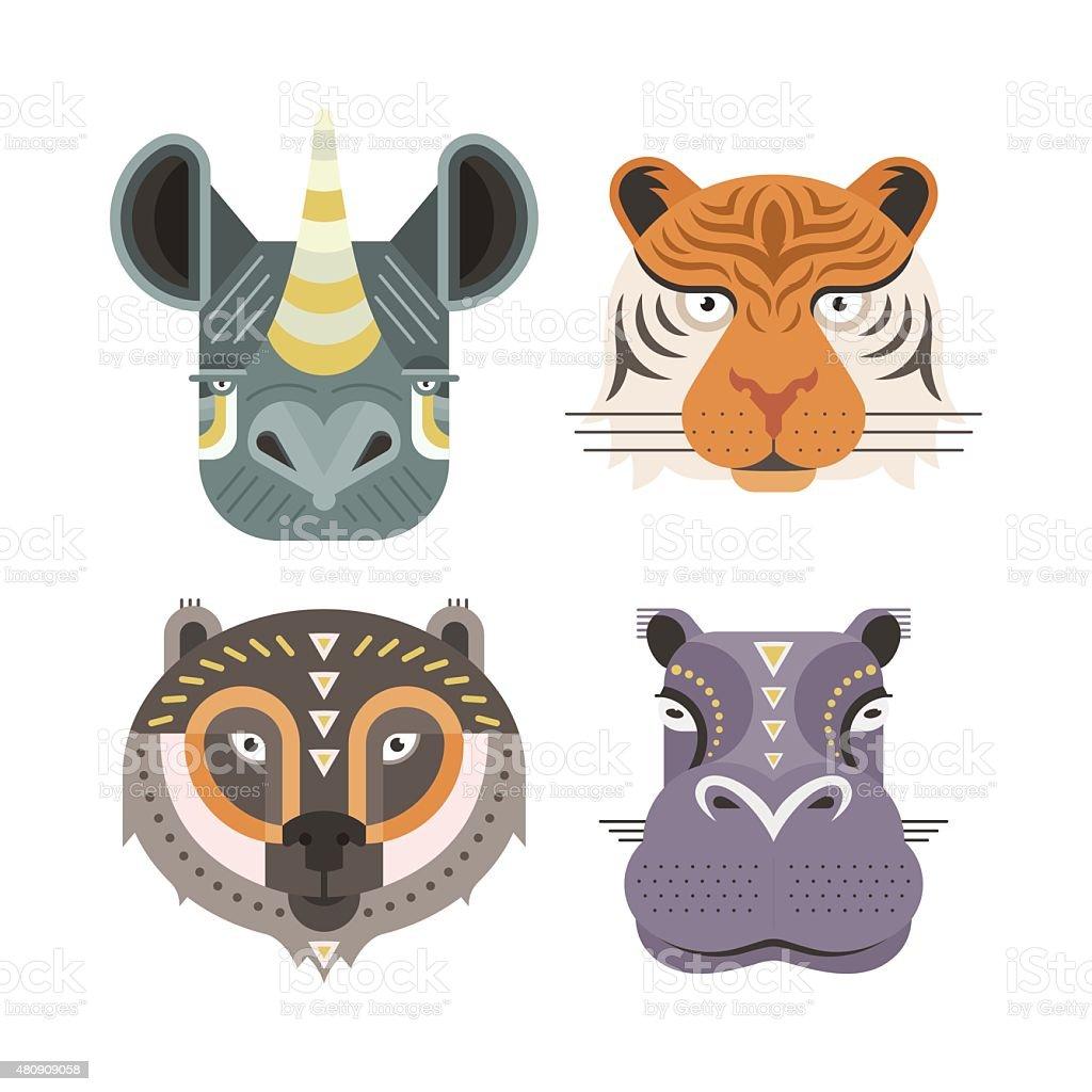 Wild Animals vector art illustration