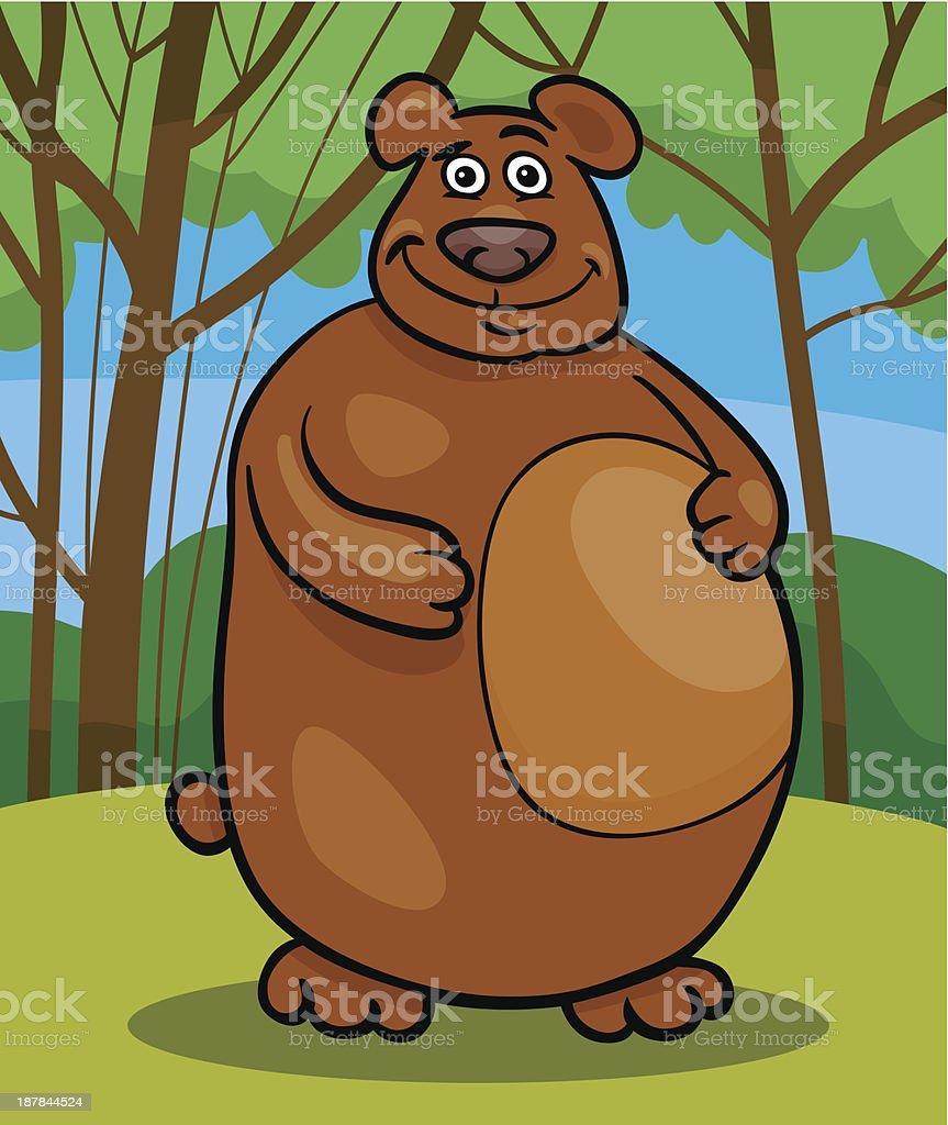 wild bear cartoon illustration royalty-free stock vector art