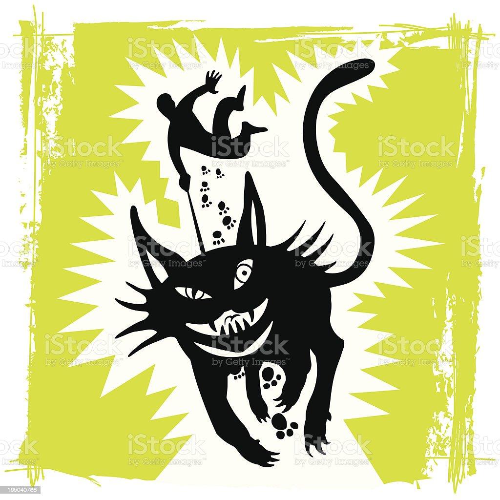 Wild Black Cat royalty-free stock vector art