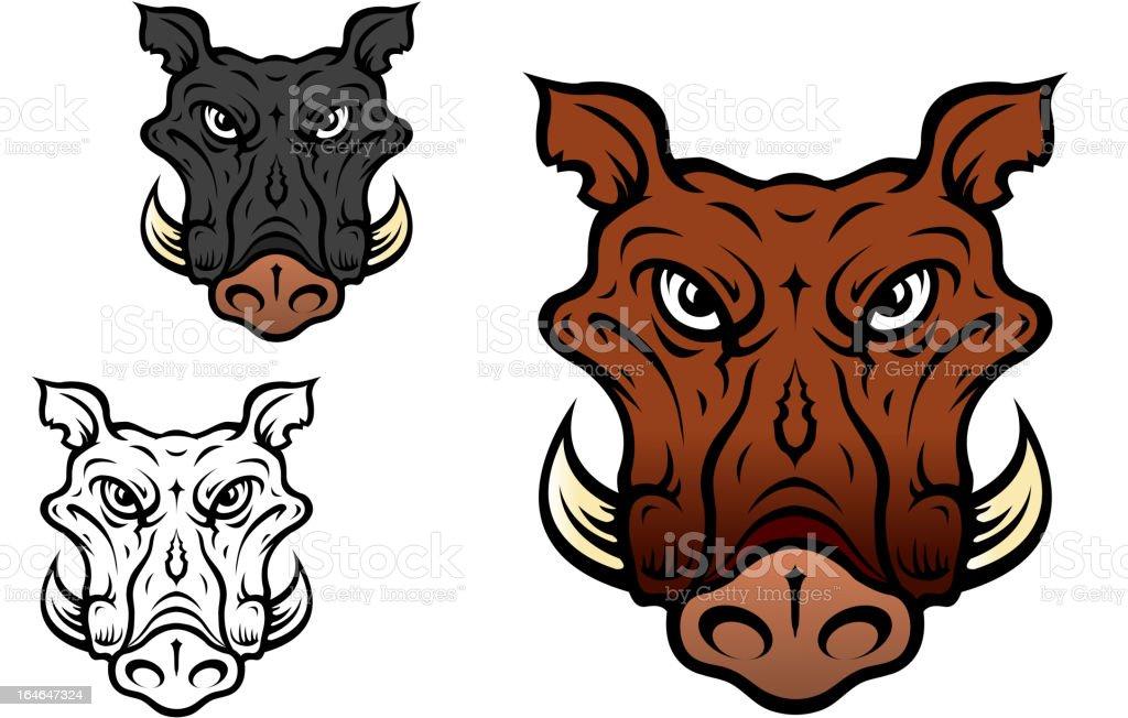 Wild boar or hog royalty-free stock vector art