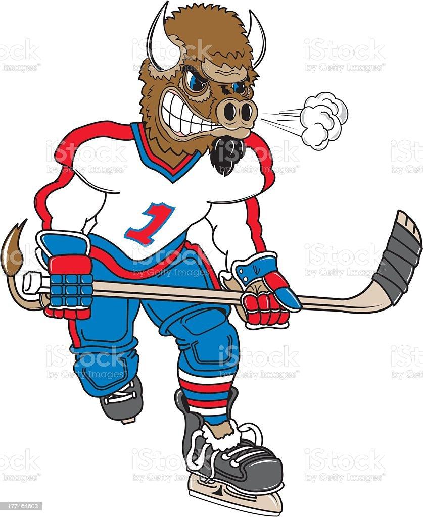 Wild Boar Plays Hocket royalty-free stock vector art