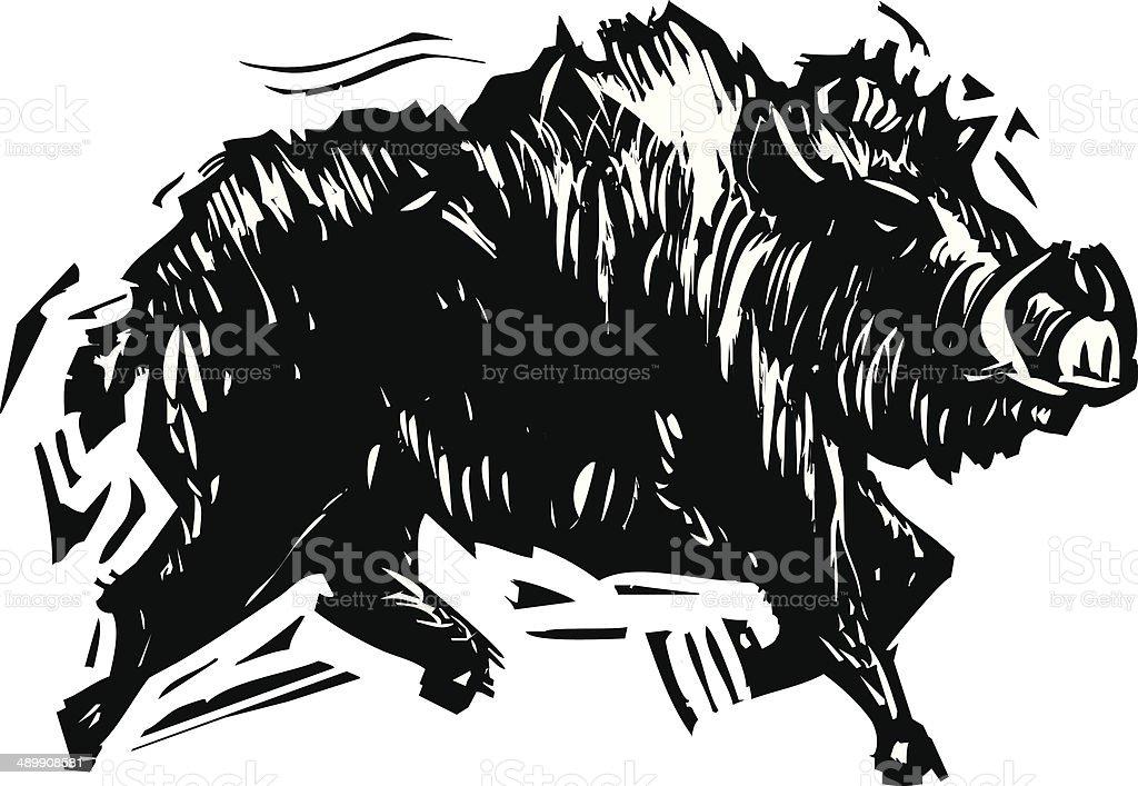 Wild Boar royalty-free stock vector art