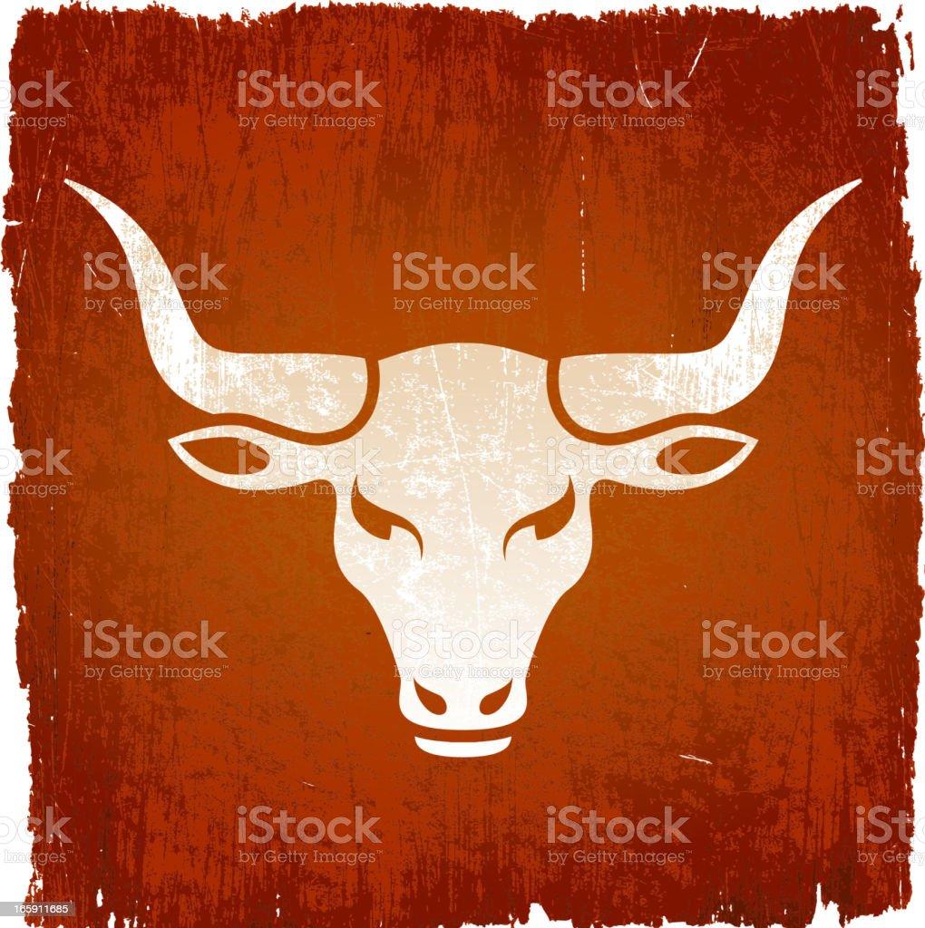 Wild bull on royalty free vector Background vector art illustration