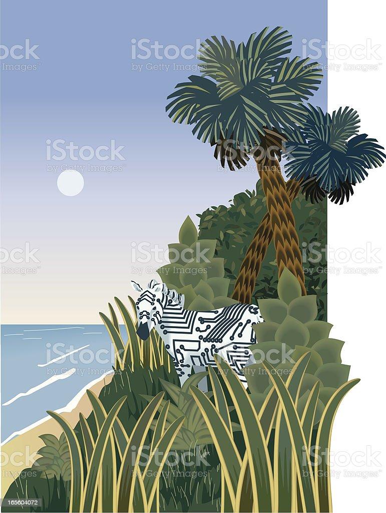 Wild circuits vector art illustration