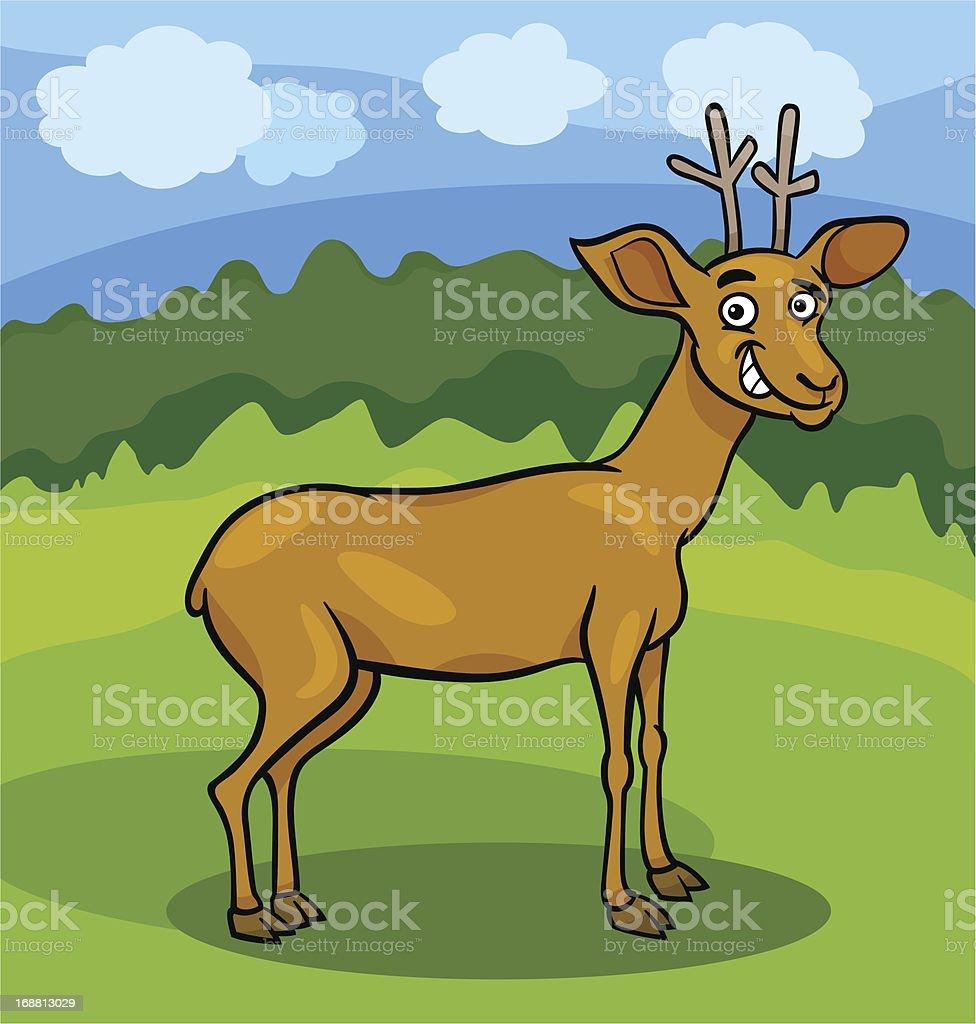 wild deer cartoon illustration royalty-free stock vector art
