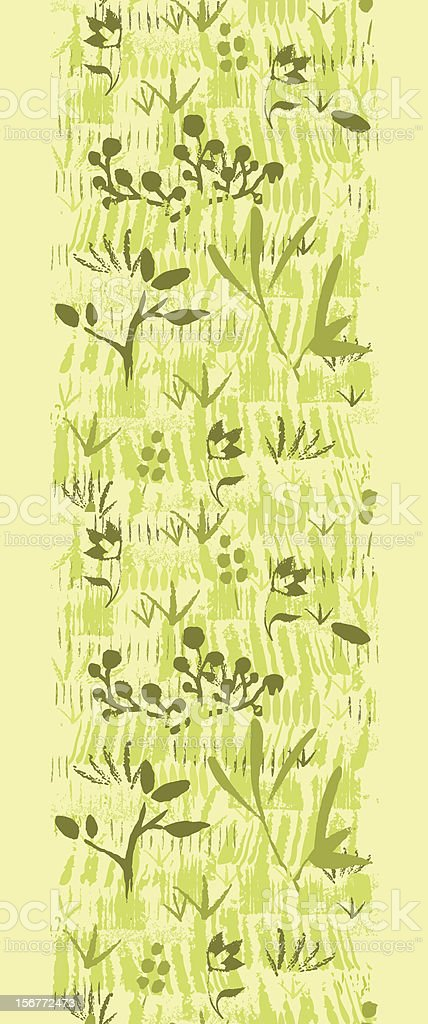 Wild Field Painted Texture Vertical Seamless Pattern Ornament royalty-free stock vector art