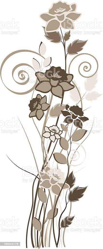 Wild Flowers royalty-free stock vector art