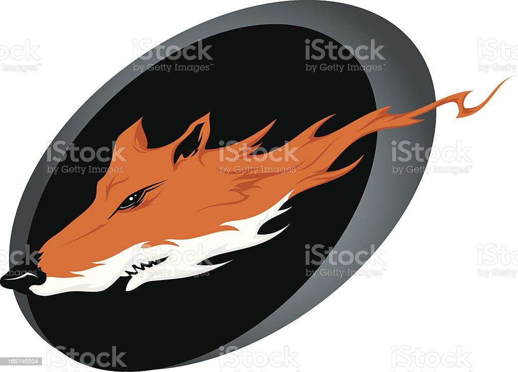 Wild fox head royalty-free stock vector art