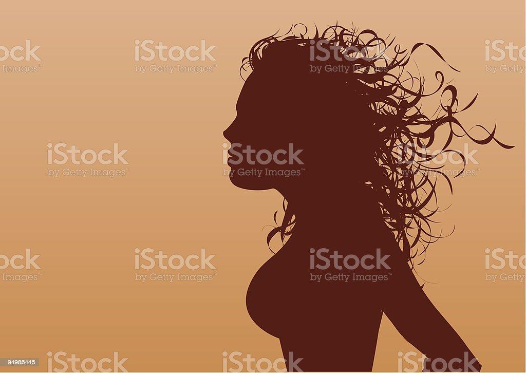 Wild hair royalty-free stock vector art