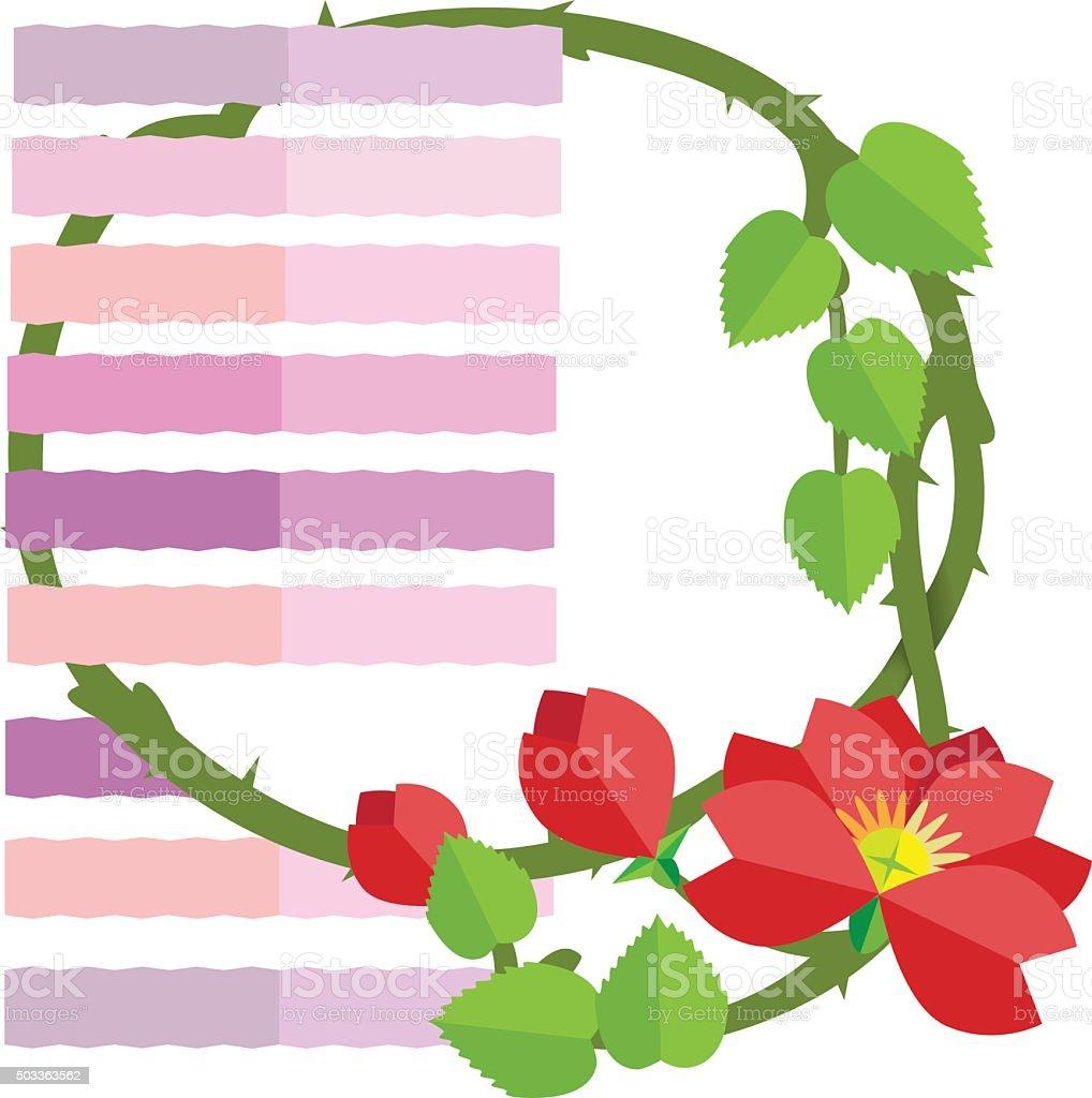 Wild Rose rosse illustrazione royalty-free