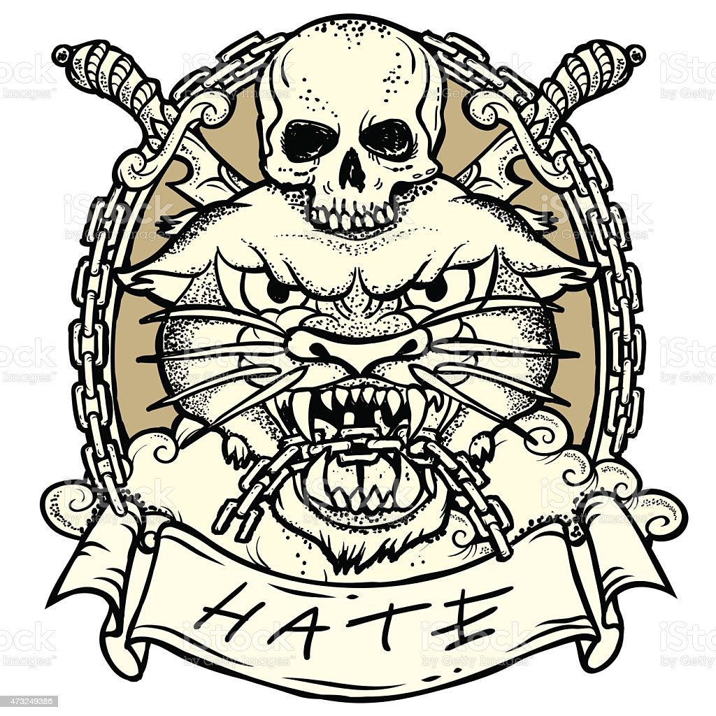 Wild Tattoo vector art illustration