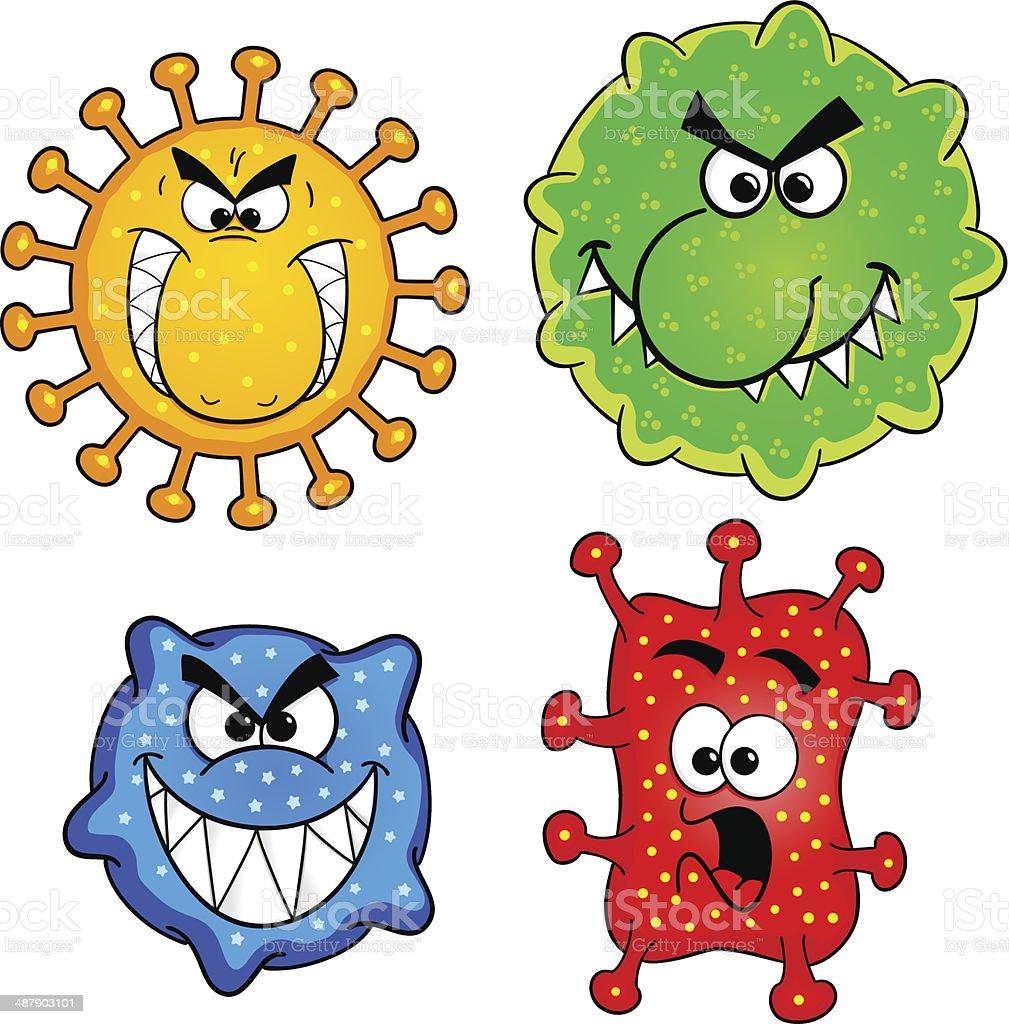 wild viruses royalty-free stock vector art