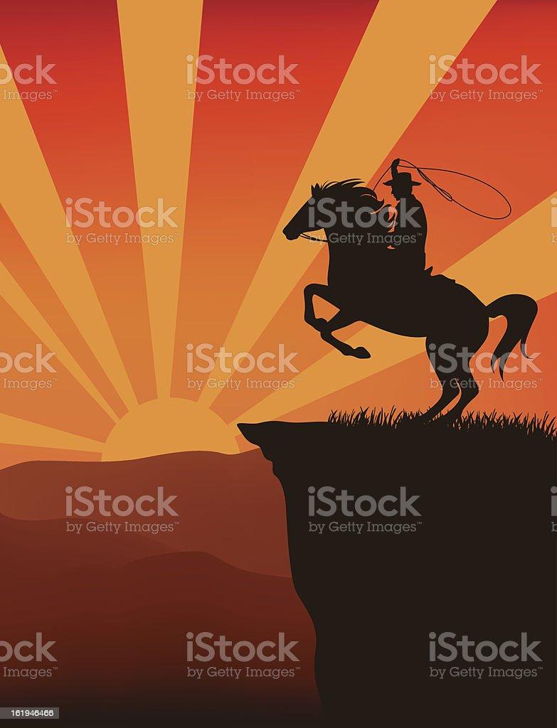 wild west background vector art illustration