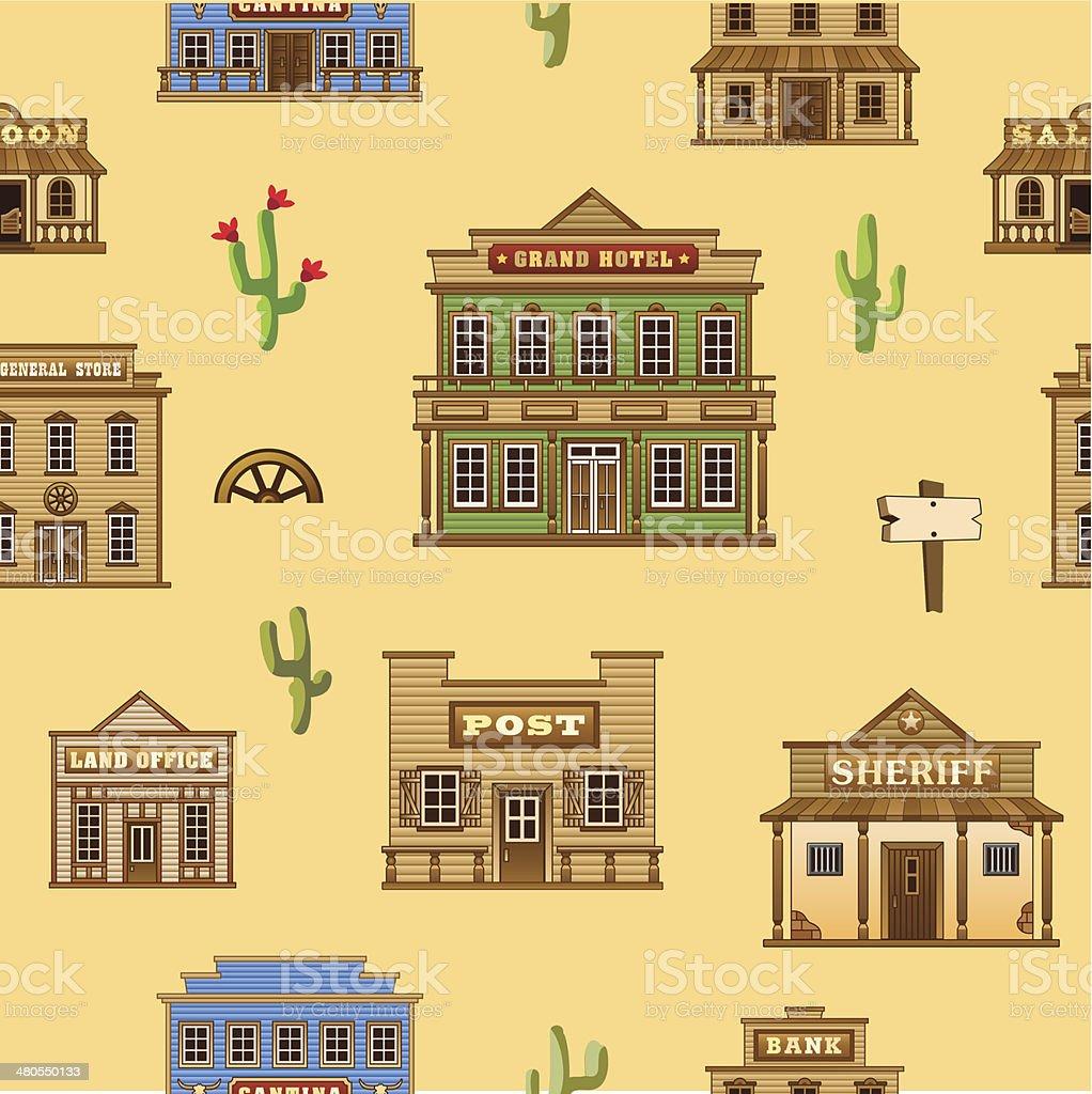 Wild West background. vector art illustration