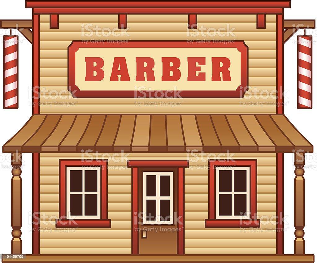 Wild West barber shop royalty-free stock vector art