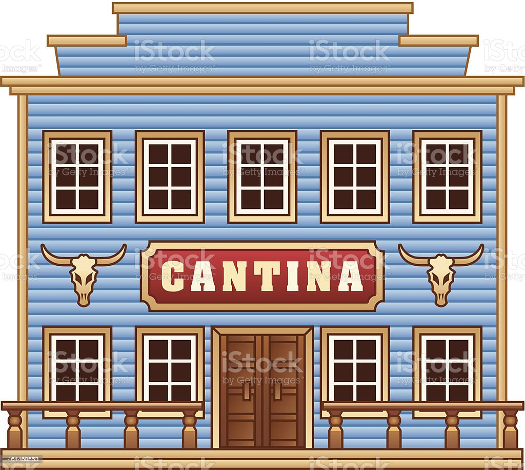 Wild West cantina royalty-free stock vector art