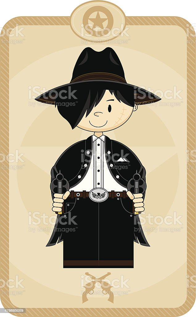 Wild West Cartoon Cowboy royalty-free stock vector art