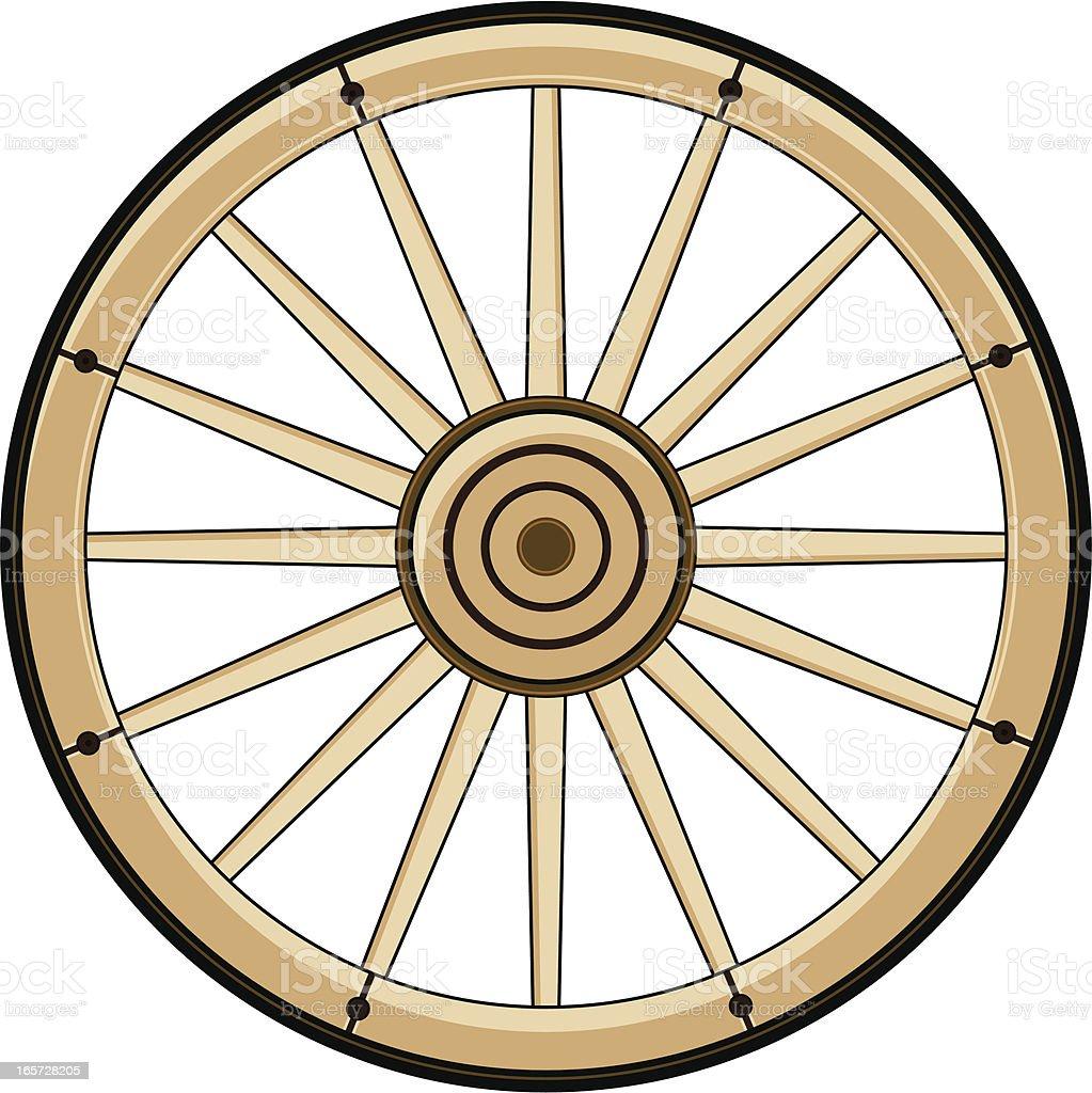 Wild West Chuck Wagon Wheel vector art illustration