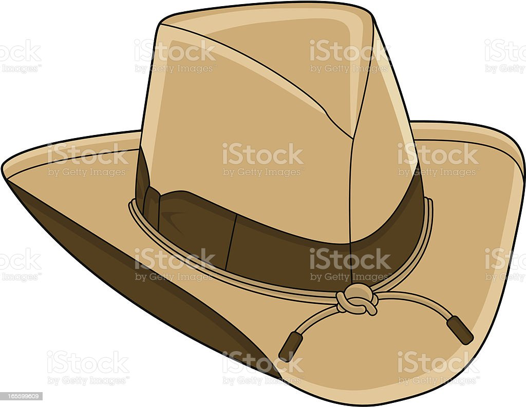 Wild West Cowboy Hat royalty-free stock vector art