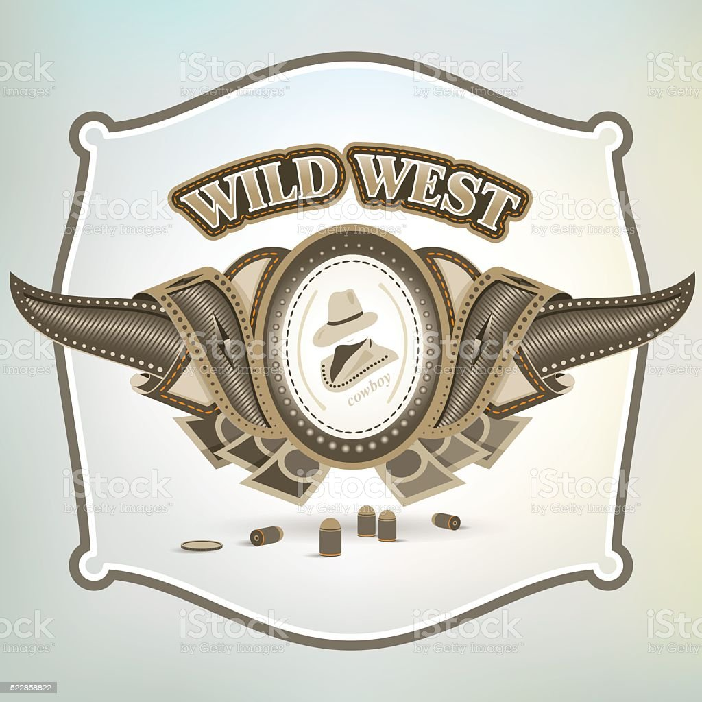 wild west element emblem vector art illustration
