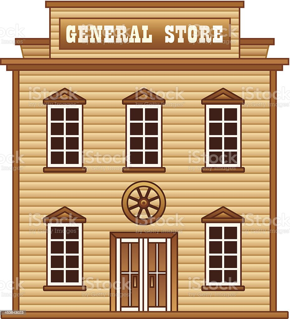 Wild West general store royalty-free stock vector art