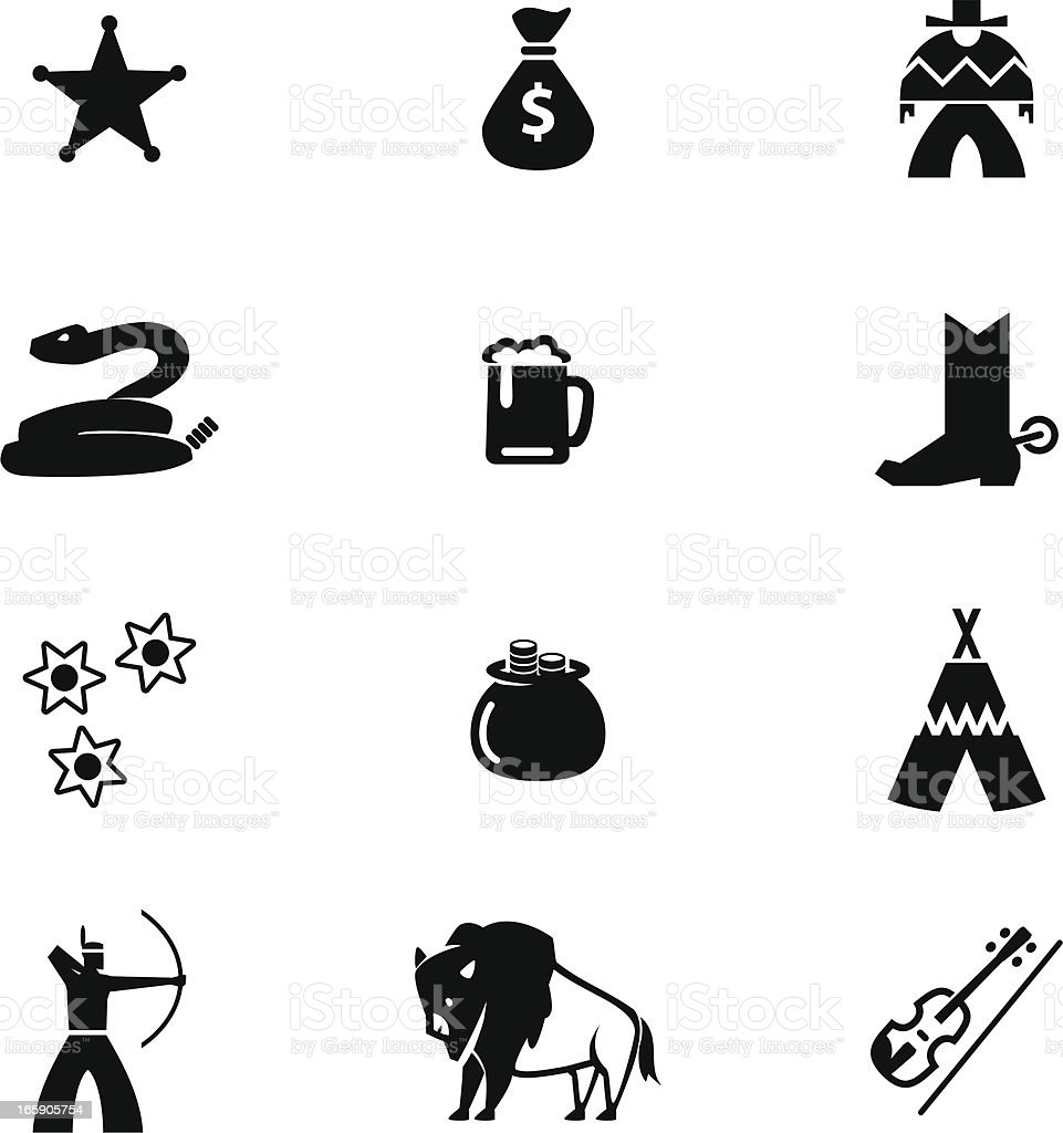 Wild West Icon Set royalty-free stock vector art