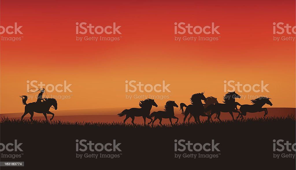 wild west landscape royalty-free stock vector art