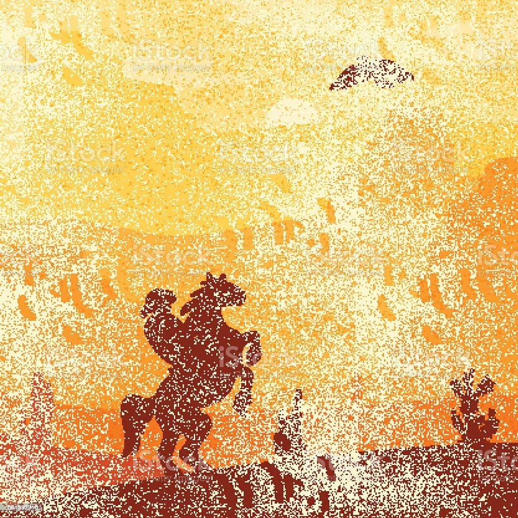 Wild West Landscape vector art illustration
