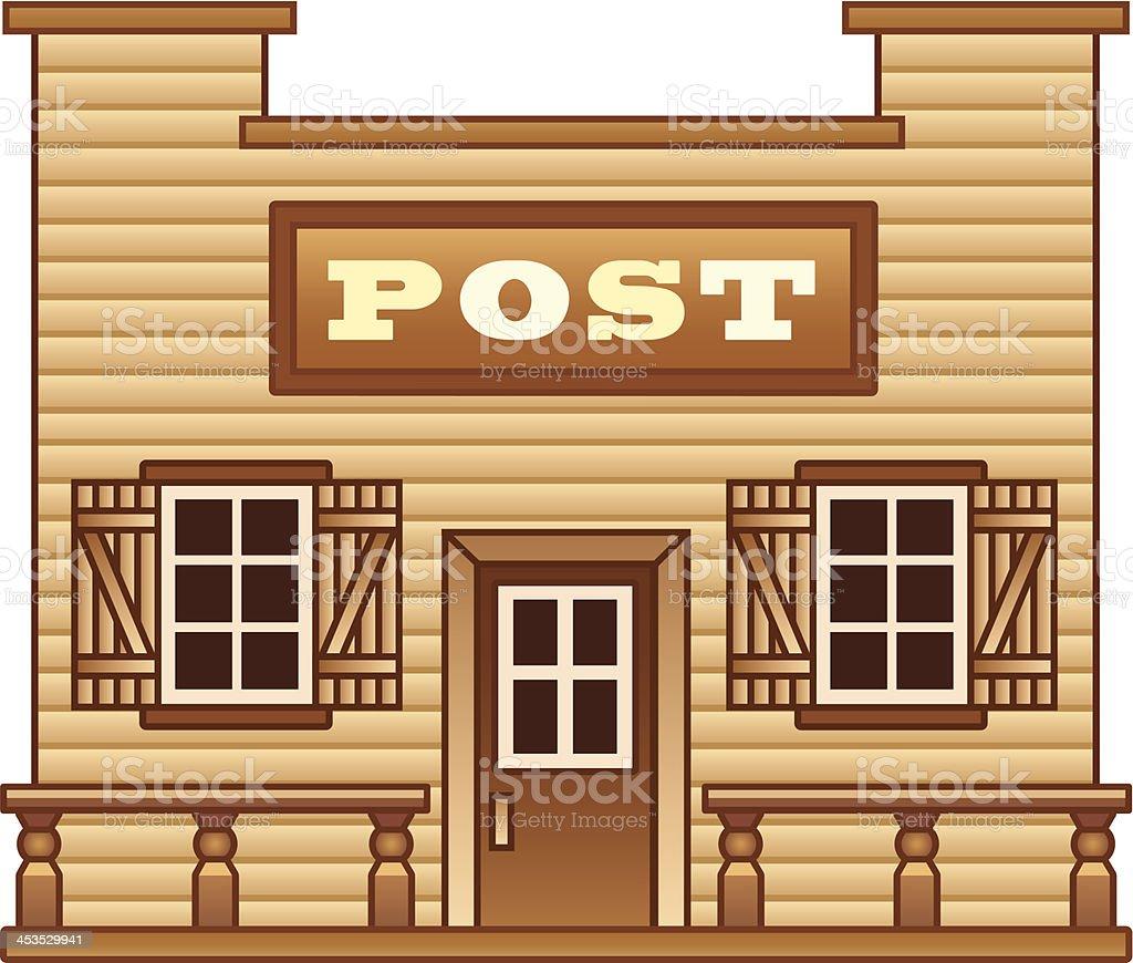 Wild West Post office vector art illustration