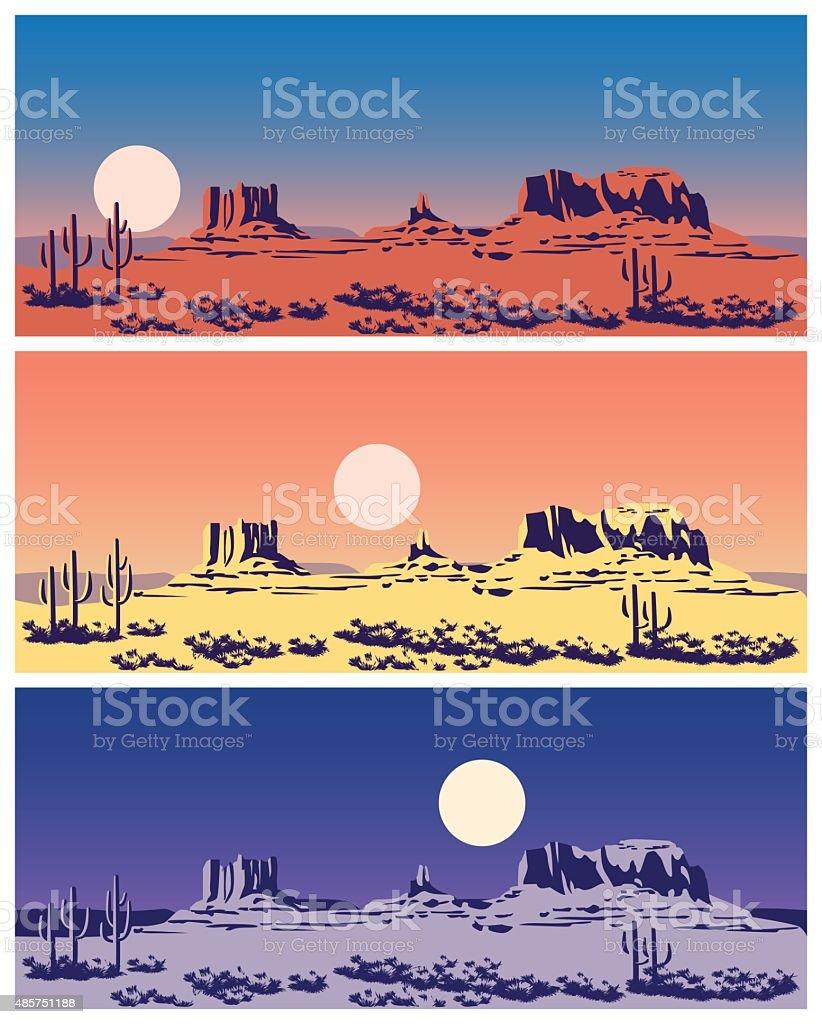 Wild West set vector art illustration