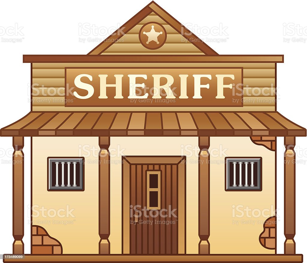 Wild West Sheriff's office royalty-free stock vector art