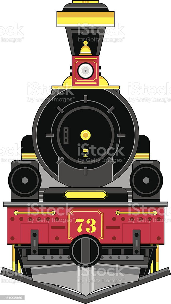 Wild West Style Train Engine vector art illustration