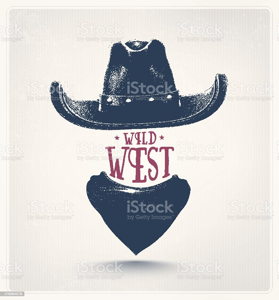 Wild West vector art illustration
