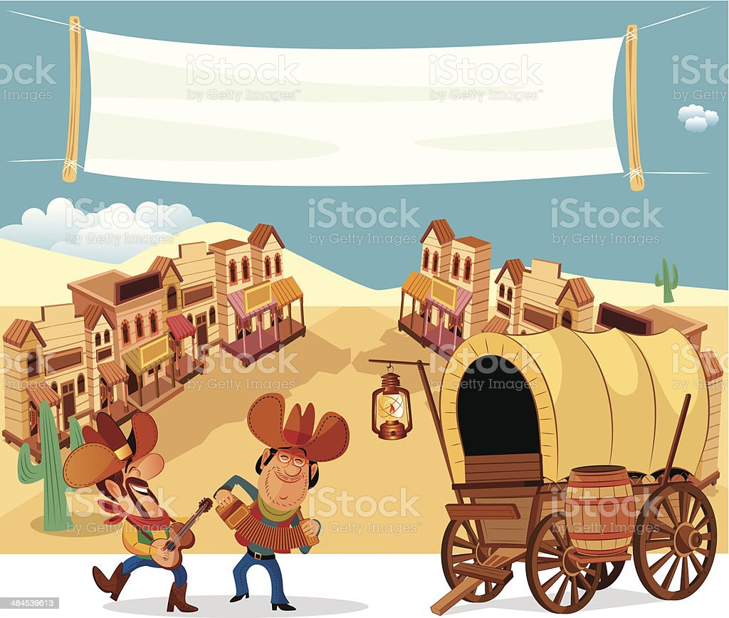 Wild West vector art illustration