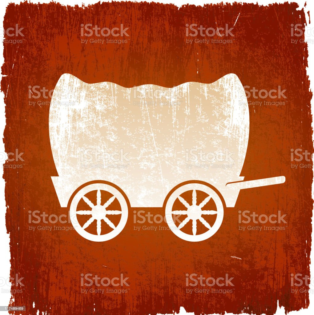 Wild west wagons on royalty free vector Background royalty-free stock vector art