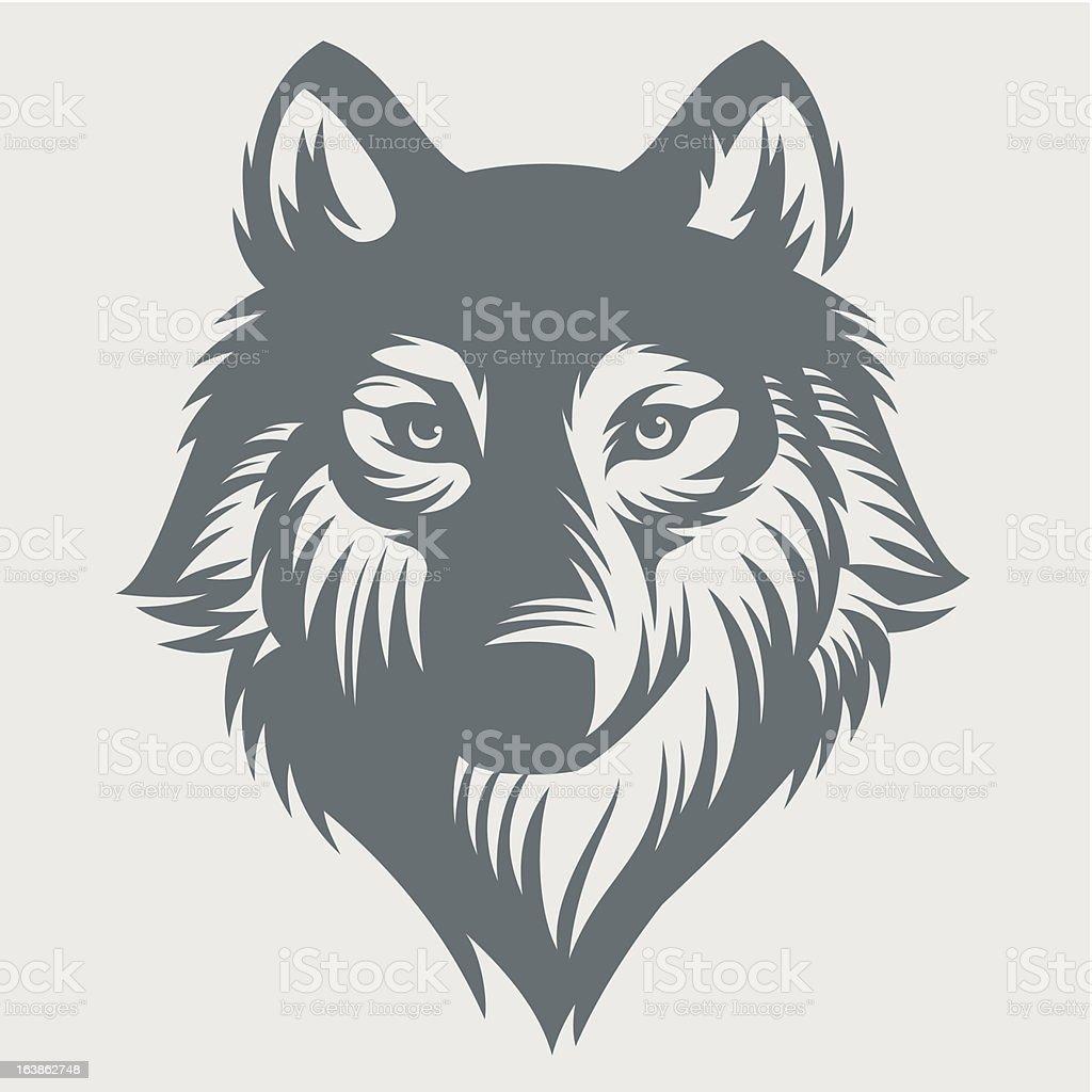 Wild wolf. vector art illustration