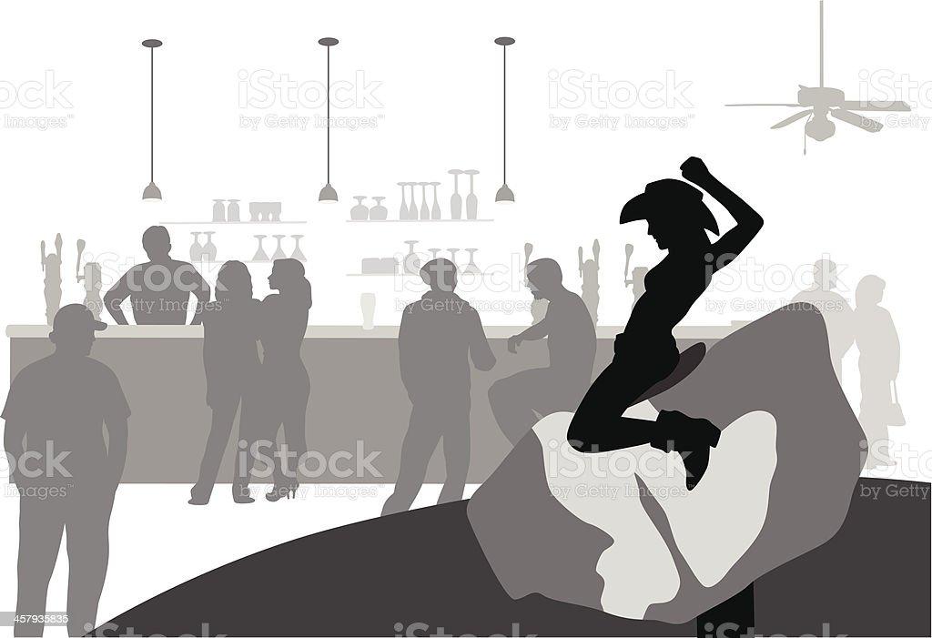 WildBarScene vector art illustration