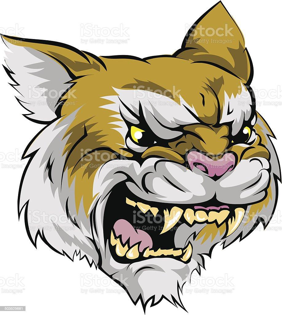 Wildcat mascot character vector art illustration