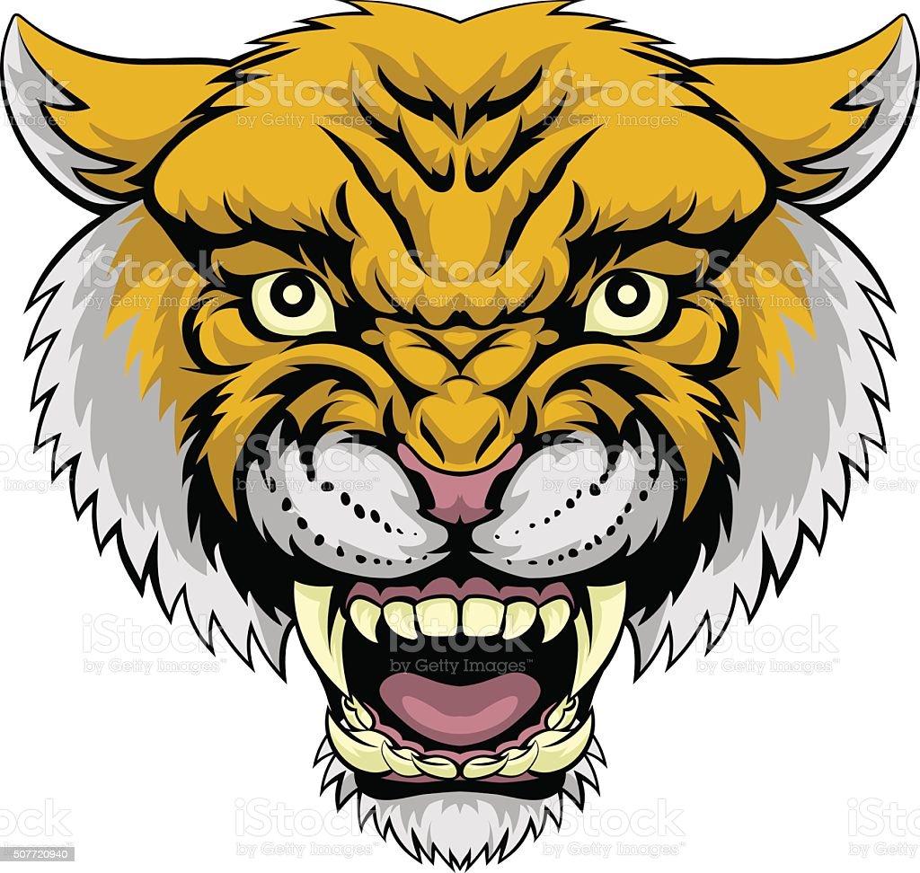 Wildcat Mountain Lion vector art illustration