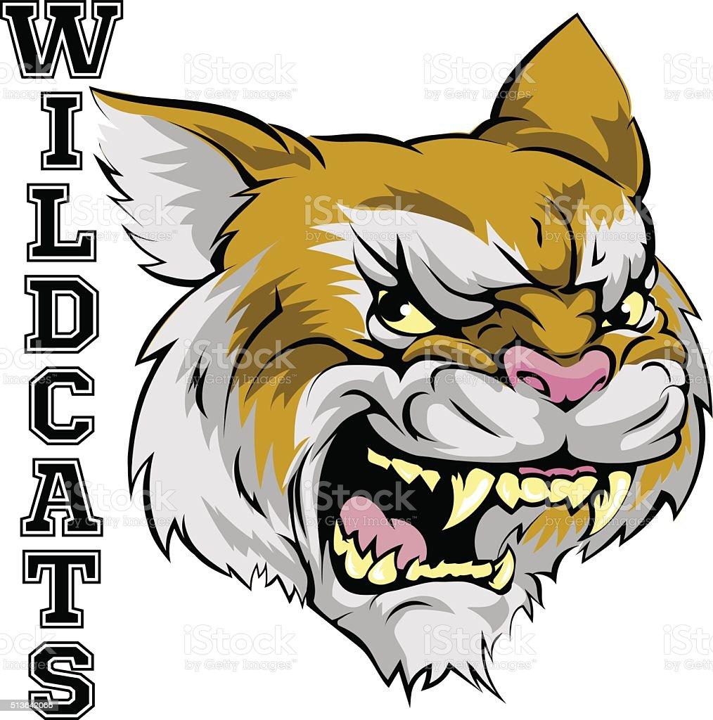 Wildcats Mascot vector art illustration