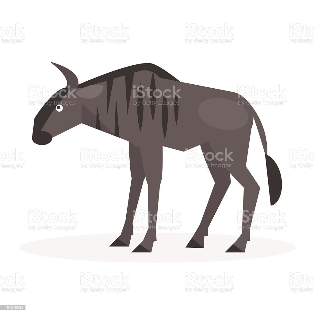 Wildebeest. Vector Illustration vector art illustration