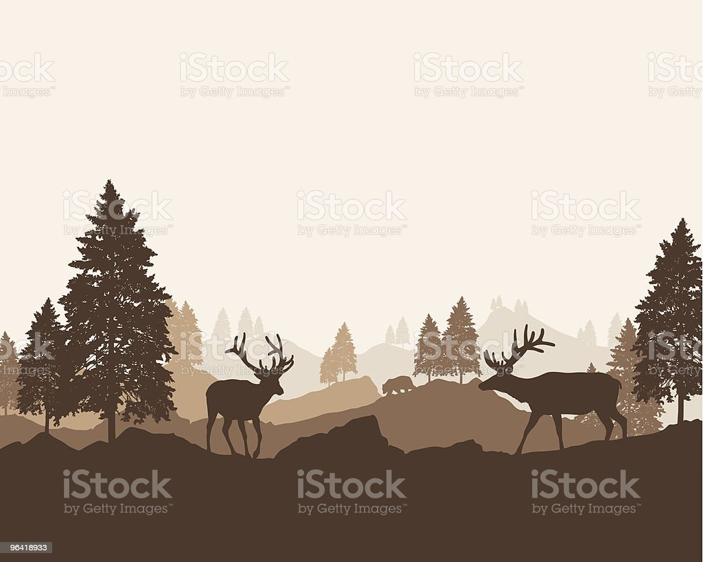 Wilderness Landscape royalty-free stock vector art