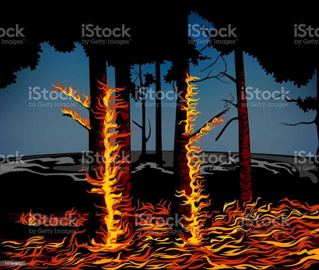 Wildfire royalty-free stock vector art