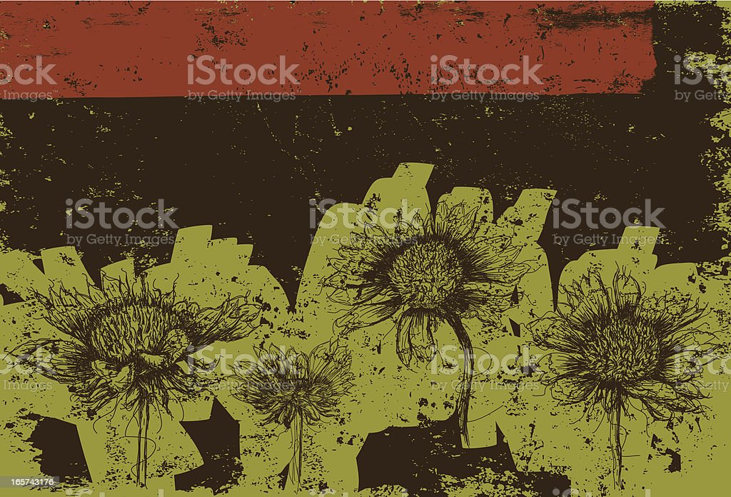 wildflower abstract royalty-free stock vector art