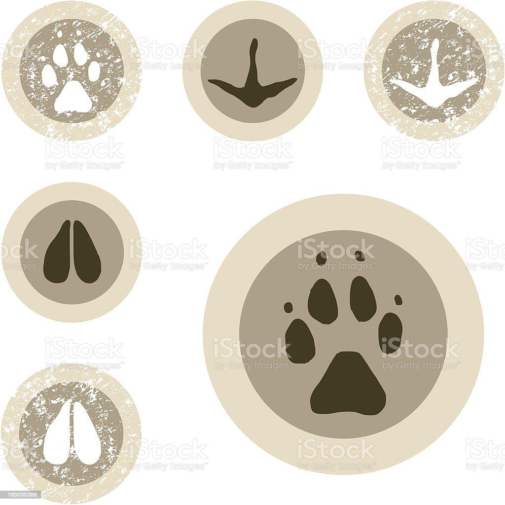 Wildlife Stamp Set - 11 of 12 royalty-free stock vector art