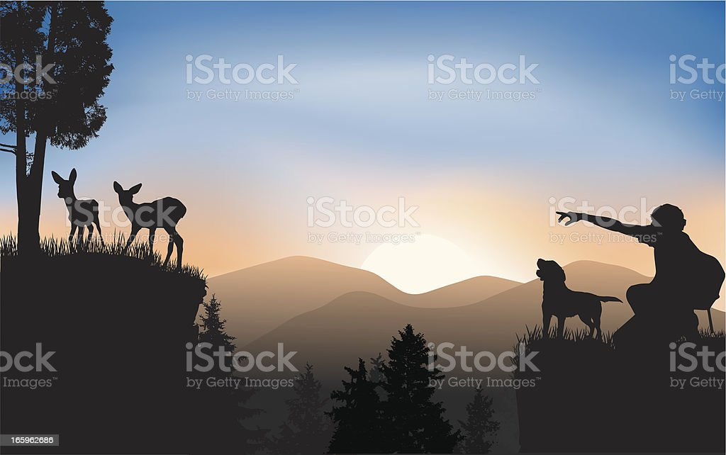 Wildlife watching royalty-free stock vector art