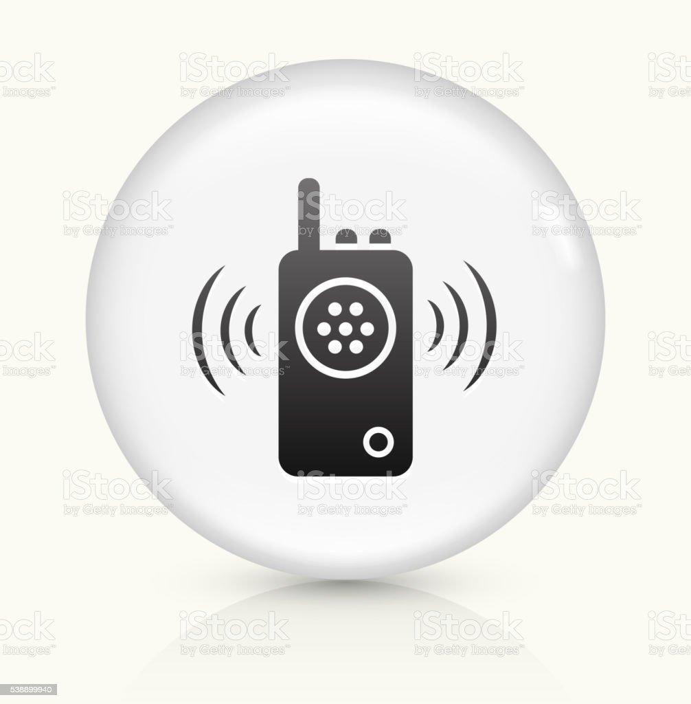 Willkie Talkie icon on white round vector button vector art illustration