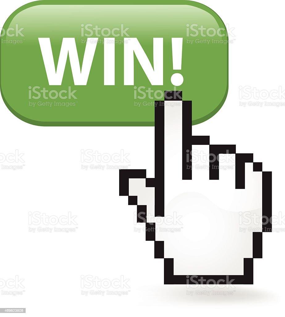 Win Button Click vector art illustration