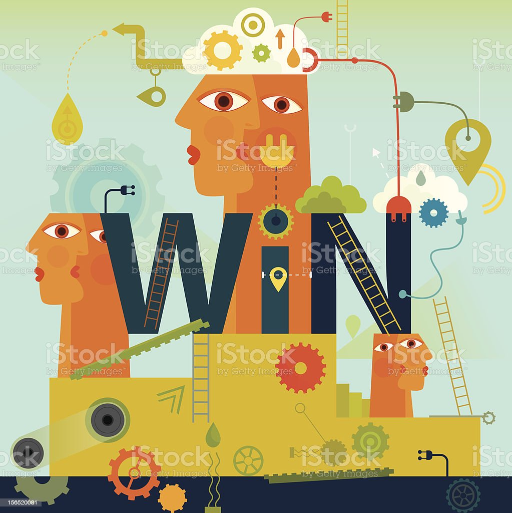 Win royalty-free stock vector art